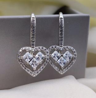 92.5 Sterling Silver Forever Heart Bali Earrings.