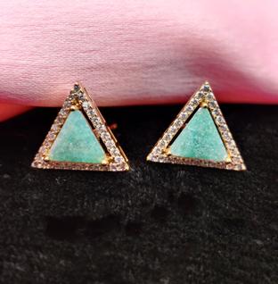 Triangle Shape Stud Earrings.