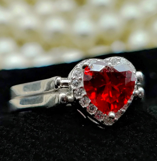 Sterling Silver Two Way Flip Heart Ring.