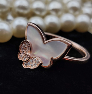 Sterling Silver Butterfly Ring.